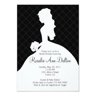 Bride Silhouette - Bridal Shower Invitaion (Black) Card