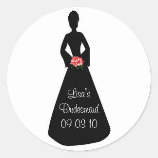 Bride Silhouette Classic Round Sticker