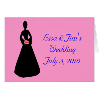 Bride Silhouette Greeting Card