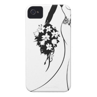 Bride Silhouette in Wedding Dress iPhone 4 Cover