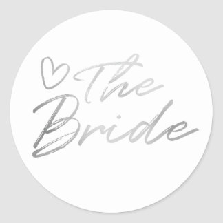 Bride - Silver faux foil sticker