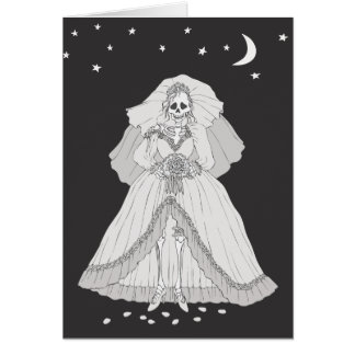 Bride Skeleton Card