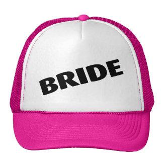 Bride Slanted Black Trucker Hat