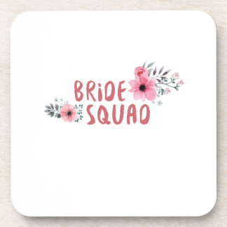 Bride Squad Bachelorette Party Funny Gift wedding Coaster