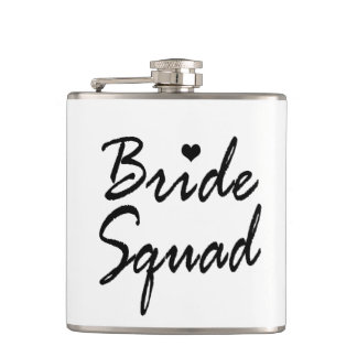 Bride Squad Bachelorette Wedding Vinyl Flask