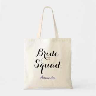 Bride Squad Custom Name Tote Bag
