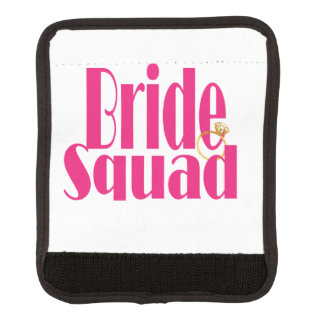 bride-squad-gold luggage handle wrap