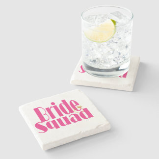 bride-squad-gold. stone coaster