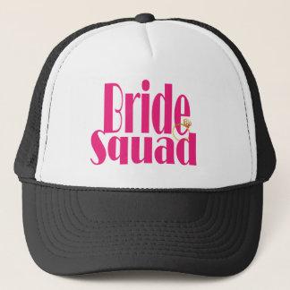 bride-squad-gold. trucker hat
