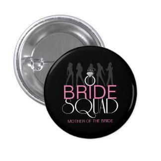 Bride Squad Silhouettes White on Dark  ID252 1 Inch Round Button