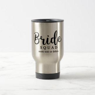 Bride Squad, Team Bride, Chic Modern Wedding Party 15 Oz Stainless Steel Travel Mug