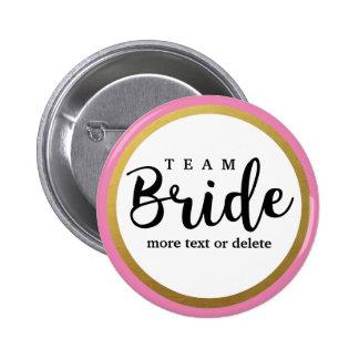 Bride Squad, Team Bride, Chic Modern Wedding Party 2 Inch Round Button