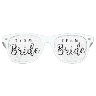Bride Squad, Team Bride, Chic Modern Wedding Party Party Sunglasses