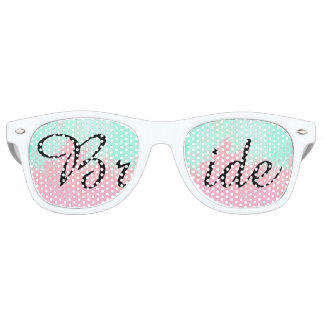 Bride Summer Pink Teal Watercolor Wedding Party Shades