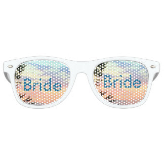 Bride Sunset Watercolor Ombre Retro Shades