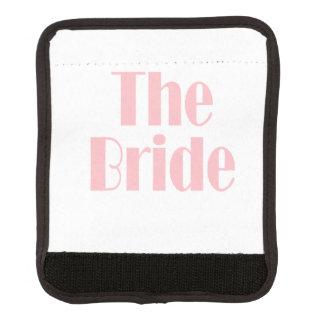 Bride Swag Baby Pink Luggage Handle Wrap