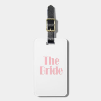 Bride Swag Baby Pink Luggage Tag