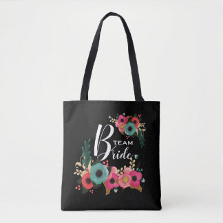 Bride Team. Bridesmaid Wedding Gifts Tote Bags