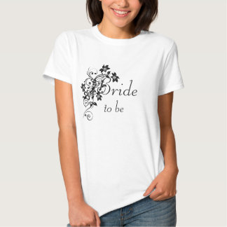 Bride to Be Baby Doll Top Shirt - Floral Swirl