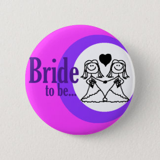 Bride to be badge 2 inch round button