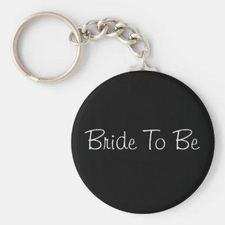 Bride To Be Basic Round Button Keychain