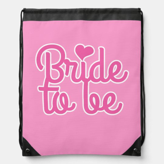 Bride to Be Cinch Bags