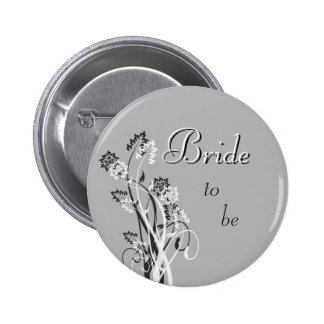 Bride to Be Pin - Slate Grey