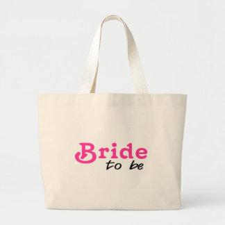 Bride To Be Pink Black Tote Bag