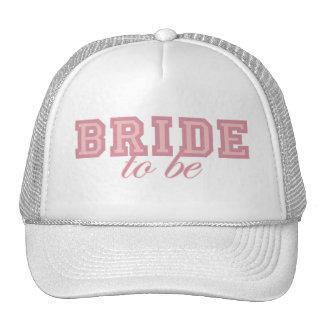 Bride to Be Pink Block Trucker Hats