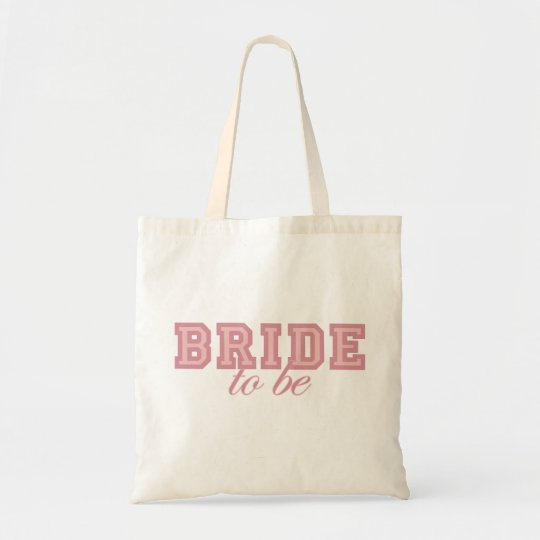 Bride to Be Pink Block Tote Bag