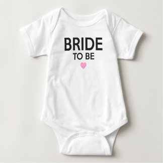Bride To Be Print Baby Bodysuit