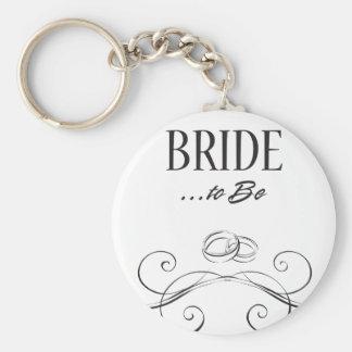 Bride to be Swirls Design Keychains