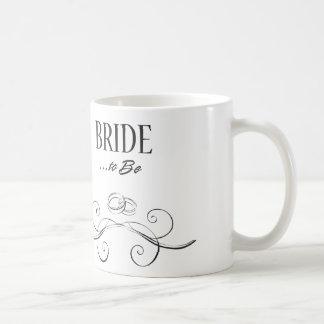 Bride to Be Swirls Design Coffee Mug