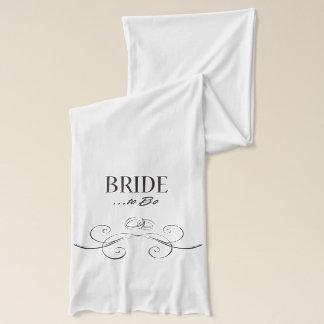 Bride to be Swirls Design Scarf