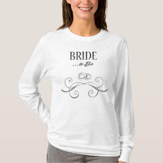 Bride to Be Swirls Design T-Shirt