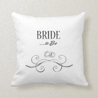 Bride to Be Swirls Design Throw Pillow