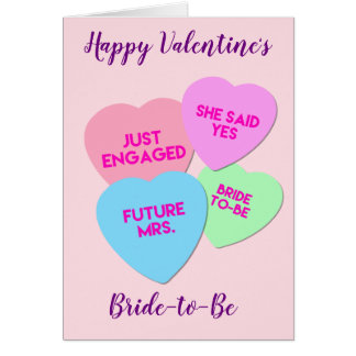 Bride to Be Valentine's Day Card