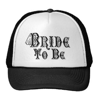 Bride To Be With Veil, Fancy Black Type Hat