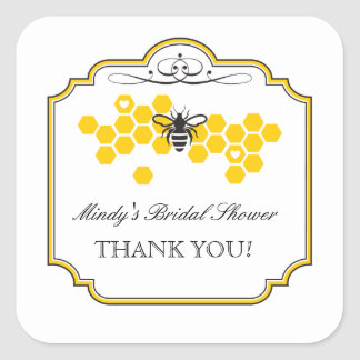 Bride to Bee Bridal Shower Favor Sticker