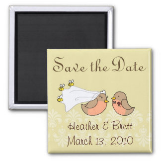 Bride to Bee Square Magnet