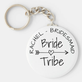 Bride Tribe bachelorette party favor keychains