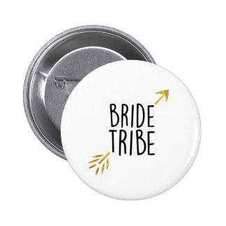 {Bride Tribe} Black & Gold 2 Inch Round Button