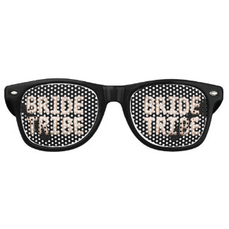 Bride Tribe Black Rose Gold Bachelorette Party Retro Sunglasses