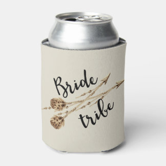 Bride Tribe Boho Arrows Personalized Can Cooler