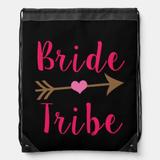 Bride Tribe Bridesmaid back pack Drawstring Bag