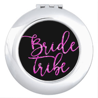 Bride Tribe Bridesmaid gift Compact Mirror