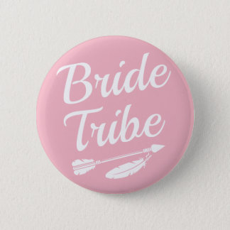 Bride Tribe Bridesmaid light pink buttons