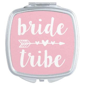 Bride Tribe Bridesmaid Light Pink Compact Mirror