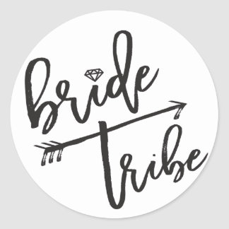 Bride Tribe Diamond Bridal Party Wedding Stickers