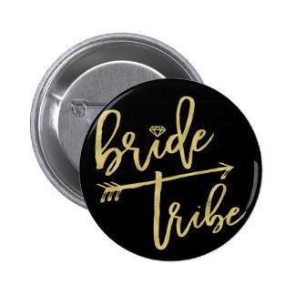 Bride Tribe Diamond Wedding Bridal Party Button